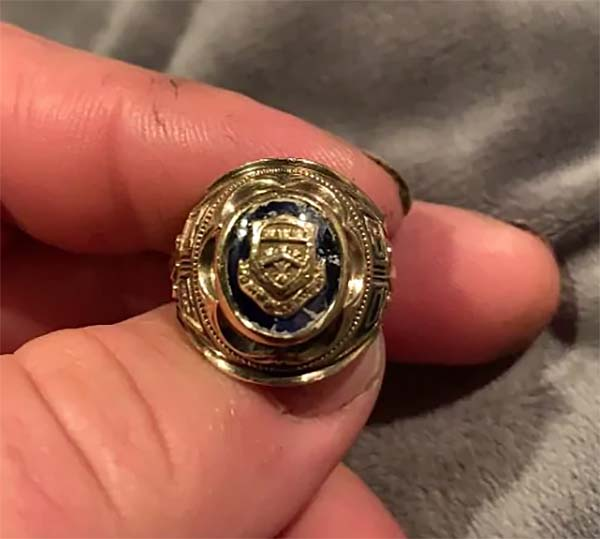 Retiree Is Reunited With Class Ring Lost in a Pond Nearly 60 Years Ago
