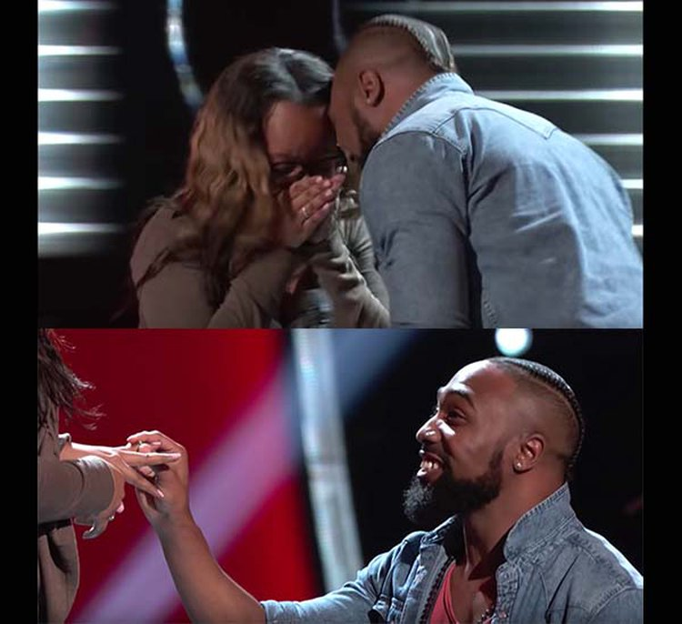 Thwack! Contestant on 'The Voice' Accidentally Headbutts Girlfriend During Onstage Proposal