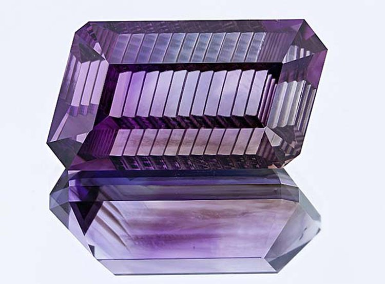 172-Carat Parallelogram-Shaped Amethyst With 'Staircase Cut' Resides at Smithsonian